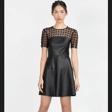 leather lace dress m 5c4e72f05c4452b46164ebd9