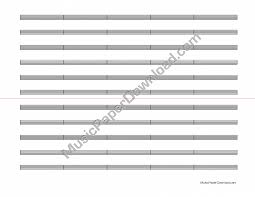 Bar Lines Landscape Samples Music Paper Printable Music Paper ...
