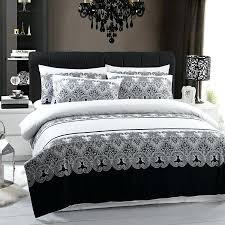 black and white queen bedding set brilliant grey duvet covers regarding cover modern damask comforter