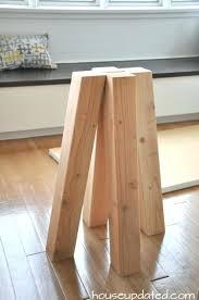 raw wood pedestal table base diy dining make breakfast