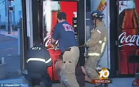 How To Steal From A Vending Machine Adorable California Boy Got His Arm Stuck Inside Vending Machine While Trying