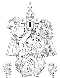 Strawberry Shortcake Coloring Page Omalov Nky Pinterest
