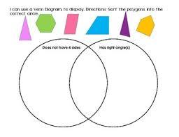 Venn Diagram Of Geometric Shapes Polygons And Venn Diagrams Worksheets Teaching Resources Tpt