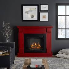 real flame silverton rustic red wood electric fireplace