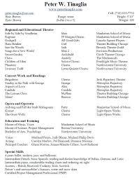 Theatre Resume Unique Musical Theatre Resume Inspirational Theatre Producer Sample Resume