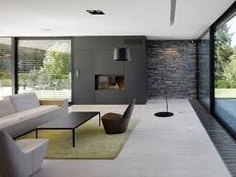 modern apartment interior design living room of with sofa couch black and white fireplace r apps