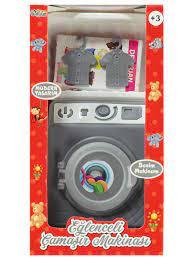 Can Oyuncak Kutulu Çamaşır Makinası Set Gri Fiyatı E-3002 / GRI