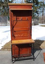antique 5 panel door potting bench etsy listing 123901233 antique 5 panel door hall tree or