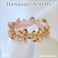 hawaii hawaiian jewelry ring gift hawaiian jewelry ring plumeria lei pink ring 35 hawaii souvenir hawaii miyage hawaiian jewelry ring