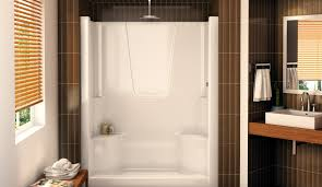 Shower  One Piece Tub Shower Units Valuable One Piece Fiberglass One Piece Fiberglass Tub Shower Combo