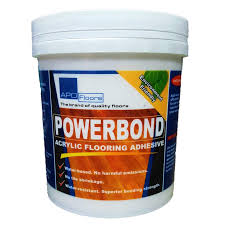 apo powerbond acrylic flooring adhesive for vinyl tiles 1 25kg with free putty knife