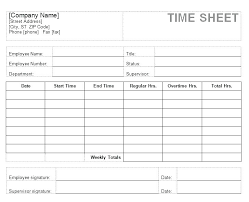 Template Can Be Used For Multiple Employees Employee Timesheet