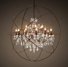 6 light orb chandelier great crystal orb chandelier the most amazing light fixture ever industrial looking globe ballard designs orb 6 light chandelier