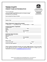 Credit Card On File Form Templates 22 Printable Hotel Credit Card Authorization Form Template
