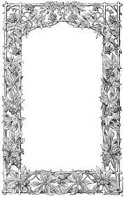 victorian vine leaf page border 983x1565 335k jpg