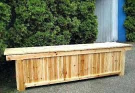 outdoor wooden storage bench outdoors cedar wood benches patio plans
