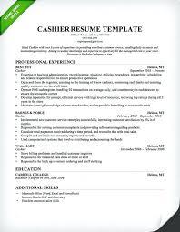Cashier Resume Sample Fast Food Cashier Resume Template Cashier