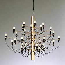 functional elegance sums up this fantastic modernist chandelier designed by the italian master of light gino sarfatti the flos model 2097 30 chandelier is