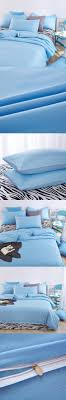 2016 bedding sets shallow sea blue zebra bed sheet and duver quilt cover pillowcase soft and