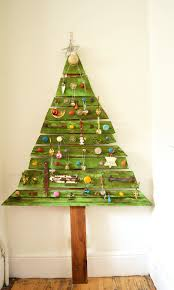 decorated diy wood christmas tree a e saving unique flat christmas tree for your home