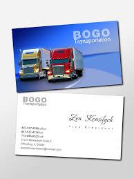 Bogo Transportation Business Card Design