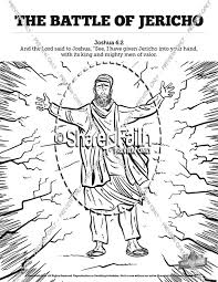 Walls Of Jericho Sunday School Coloring Pages Sunday School