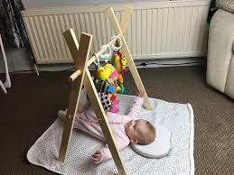 diy baby gym doenting the drews wood baby gym