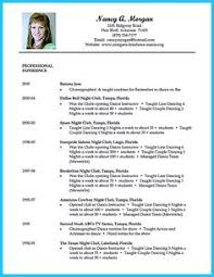 dance resume examples. Dance Resume Sample Image Jobs Pinterest Dancing Dancers and