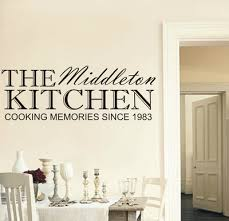 on personalized wall art names with personalised family kitchen wall art sticker any name and year available