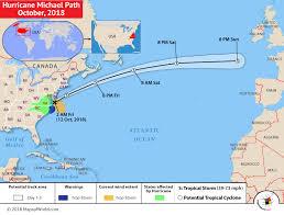 Hurricane Michael Path Map Oct 2018