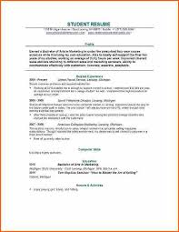 New Grad Resume Templates Sample Of A College Student Resume