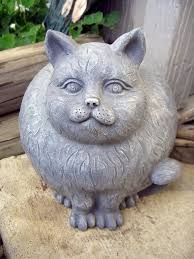fat cat garden statue unique garden statues
