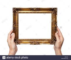hand holding antique mirror. Beautiful Mirror Man Holding Antique Style Golden Color Picture Frame In His Hands Throughout Hand Holding Antique Mirror