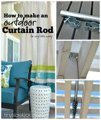 how to make an outdoor curtain rod for very little money curtains screened porch ds outdoor curtains