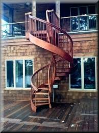 best outdoor wood spiral staircase cost outdoor spiral staircase