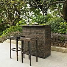 3 piece patio bar set. Delighful Set Intended 3 Piece Patio Bar Set C