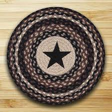 black star braided placemat round