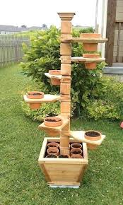 outdoor wooden plant stands plans images table