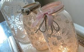 Decorating Mason Jars With Ribbon these are so beautiful romanticlacemasonjars100 Wedding 19
