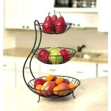 countertop fruit basket fruit basket in x in x in steel arched 3 tiered fruit basket