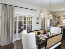 kitchen beautiful awesome window treatment ideas for sliding glass doors in kitchen sloped ceiling dining