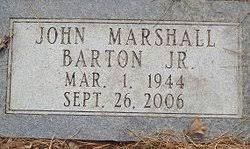 John Marshall Barton, Jr (1944-2006) - Find A Grave Memorial