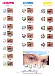 Contacts Color Chart Luuux Color Circle Lenses