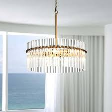 4 light brushed brass pendant crystal chandelier and made in spain