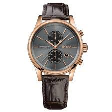 mens rose gold watches beaverbrooks the jewellers hugo boss jet rose gold tone chronograph men s watch