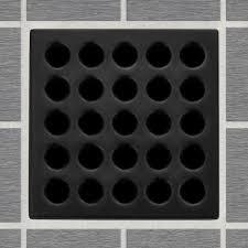 3 3 4 inch shower grate only matte black