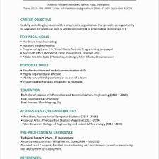 Activities Resume Template Inspirationa Activities Resume For