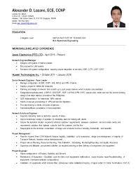 Ccna Cv Ccna Cv Example Ccna Sample Resume Ccna Resume For Freshers