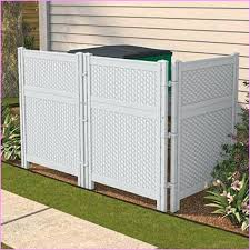 outdoor trash can. Trash Cans Outdoor Can Enclosure Home Design Ideas Beautiful Regarding 7