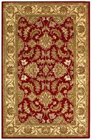 safavieh heritage rug black red